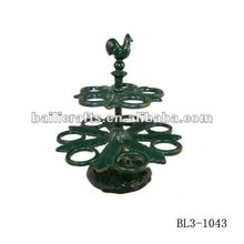 wholesale metal cast iron eggs holder tray/metal stands for eggs