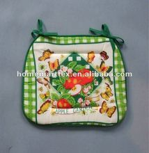 fruit printed chair pad with tie dinning thin chair pads