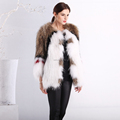 New style women's fashion knitted raccoon fur coat