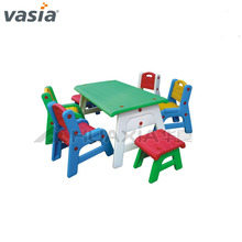 Children plastic table and chair for kid study,customized kid chair