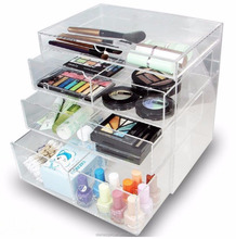 Clear Acrylic Makeup Cosmetic Organizer Drawer Case Jewelry Display Storage Box