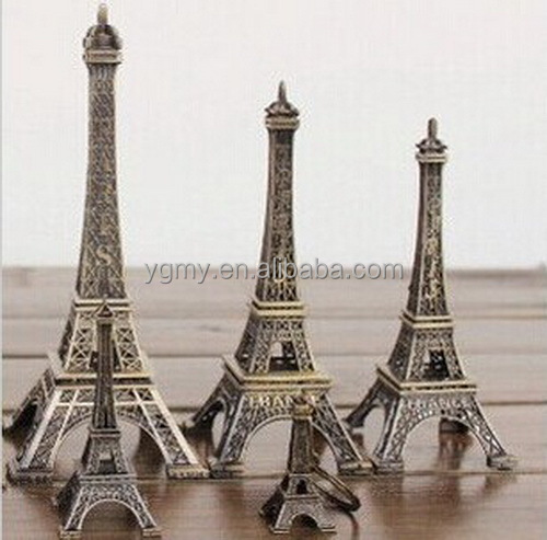 25CM Tower Eiffel Home Decoration Items Vintage Metallic Model Iron Creative Decorative Photo Prop Crafts