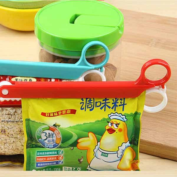 Wholesale Scissors-Shaped Food Seal Folder Storage Bag Sealing Clip