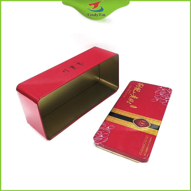 customized rectangular metal tea packaging box for promotion gift