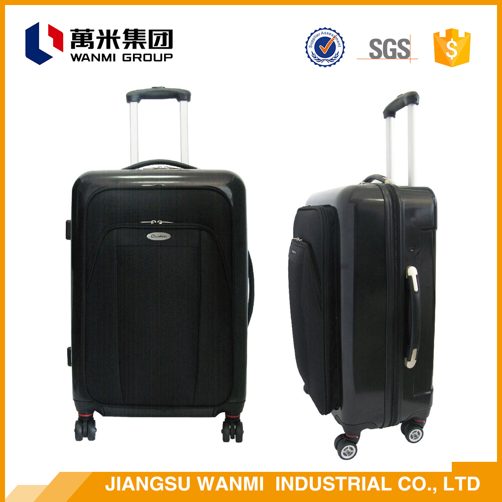 Universal aircraft wheel 3 piece trolley soft luggage set suitcase cover