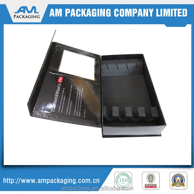 Dongguan Factory knife and fork packaging magnetic hinged cardboard box