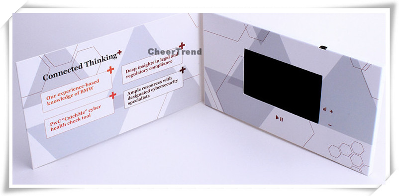 4.3 inch touch screen promotional video brochure