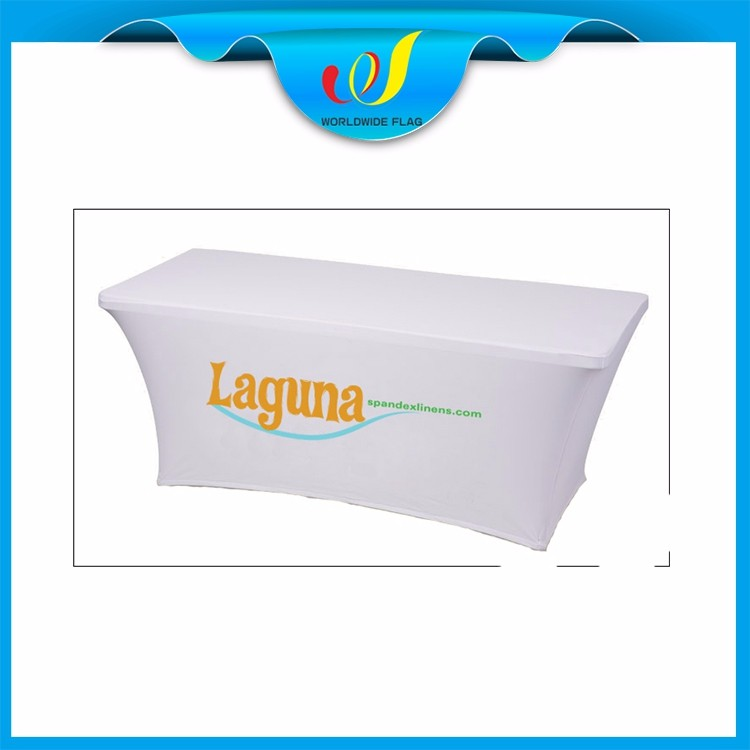 Custom Promotion Advertise Trade Show Commercial Wholesale Spandex Rectangular Table Cover