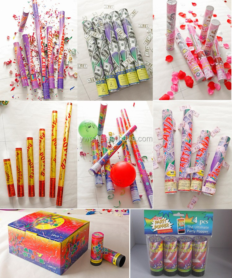 cheap high quality paper streamer party popper