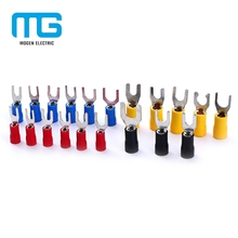 SV series Copper Fork Insulated Electrical Wire Crimp Terminals spade terminals