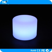 Battery operated plastic LED color change Christmas cylinder lights / wireless LED magic table lamp