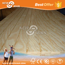 High quality standard size 18mm 20mm 25mm grooved plywood