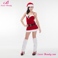 Christmas 6 style fancy sexy women santa claus costume