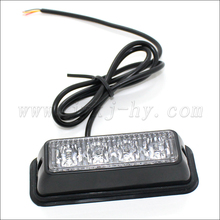 Amber LED Warning Strobe Light / Yellow Solar Flashing Warning Light / Solar Power LED Emergency Warning Light