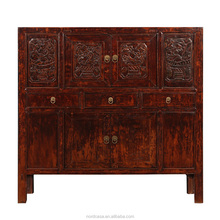Factory Beijing chinese antique wood carved sideboard furniture