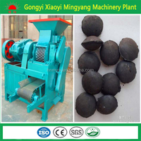 Roller pressed coal ball extruder machine/charcoal briquette shaping machine