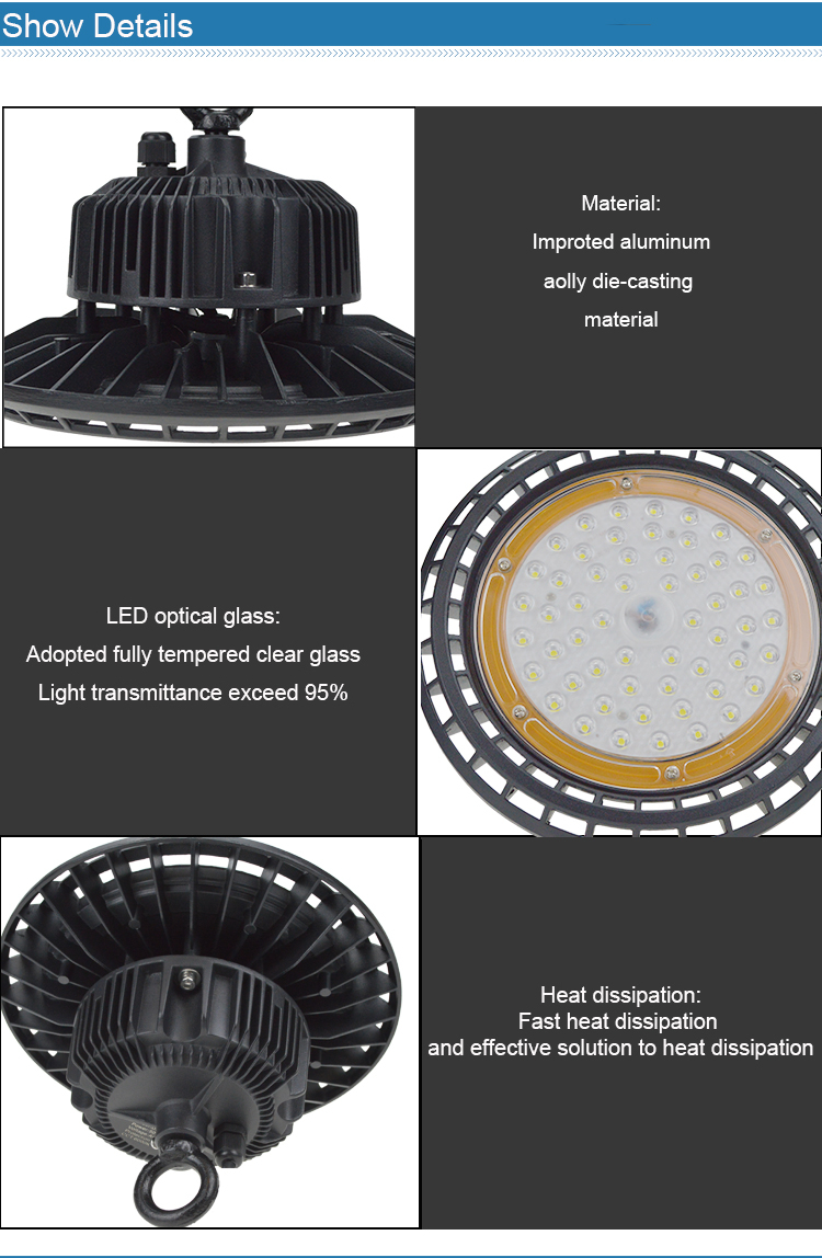 LED High Bay Light Housing with Aluminum Parts for LED High Bay Light Warehouse