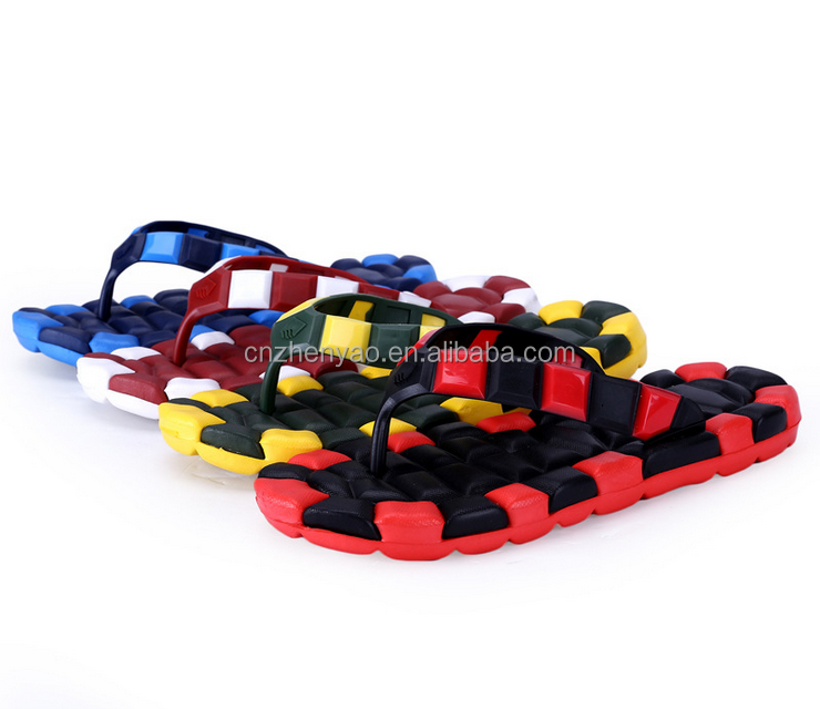 China slippers PVC strap men flops for summer beach