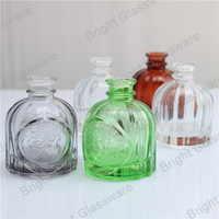 wholesale new arrival fashion colored glass diffuser bottle for home fragrance use