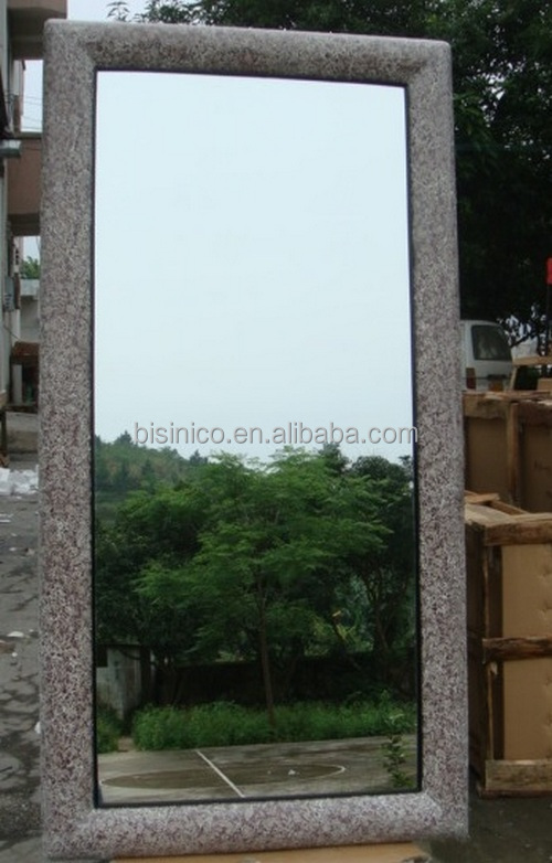Plain design rectangle frame large full length wall for Espejo rectangular sin marco