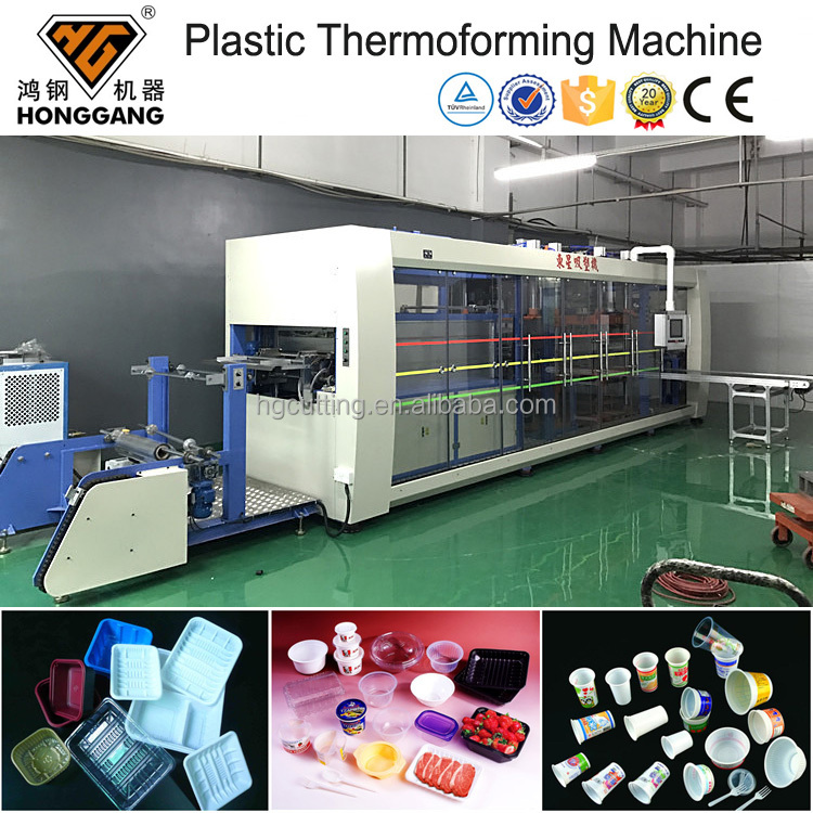Automatic Plastic cups/boxes/plates/containers Thermoforming machine