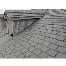 Custom style building materials 40*25cm natural stone black roof slate