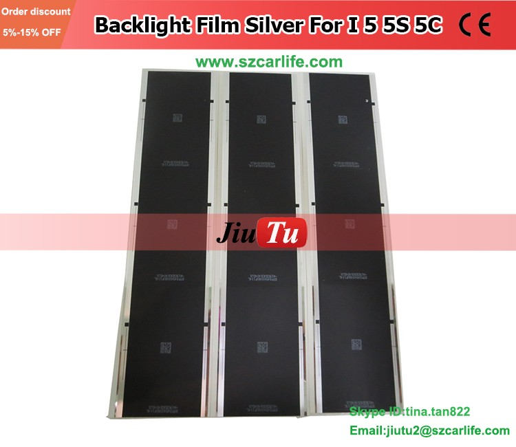 Back Sticker Silver Film For Ihpone 5/5s/5c refurbishment LCD Screen Protect Backlight