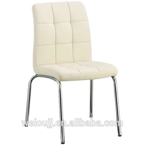 Hot Sale Metal Legs PU Seat Dining Chair