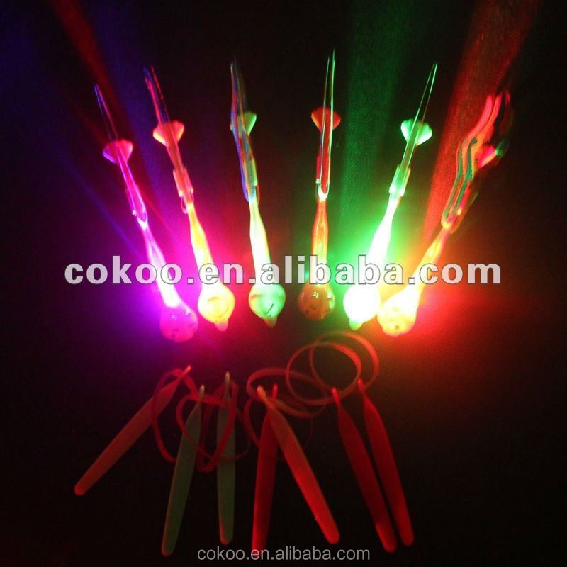 bow and arrow set archery bow and arrow Fireworks toys with light LED flying arrow