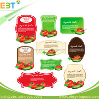 Eco-friendly Customized Removeble Vegetable Food Label