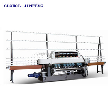 JFB-261B 9 motor ABB motor glass mirror straight line beveling machine price list