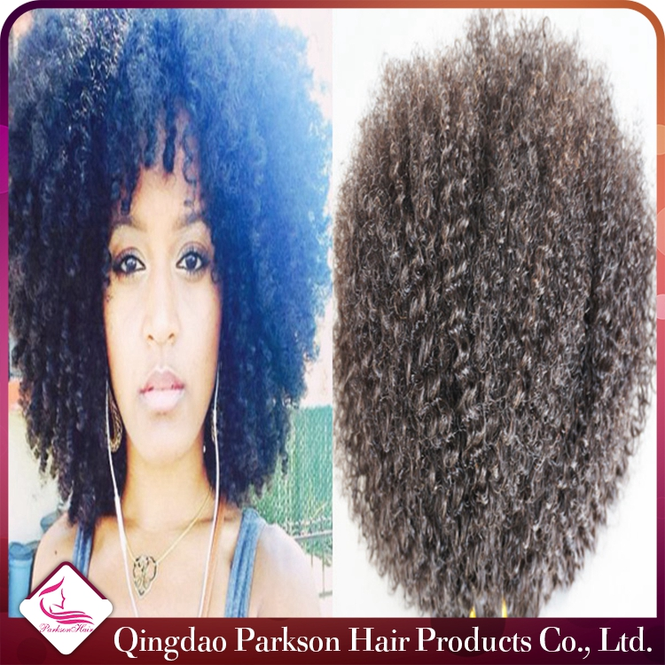 Mongolian Human Hair Natural color unprocessed afro hair nubian kinky twist