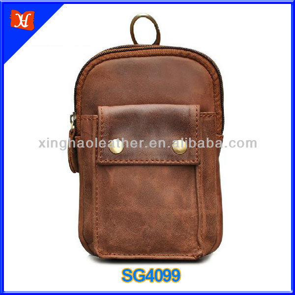 Waist Hook Leather Men's Mini Wallet Pocket Waist Pack Waist Mobile Phone Bag