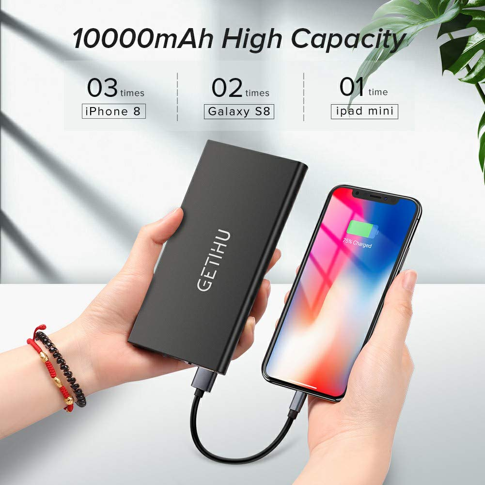 2019 NEW trending Power Bank 10000mah portable power charger dual USB port with flashlight battery backup for mobile phone