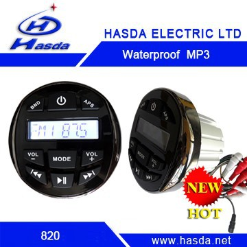 Waterproof radio mp3 player for motorcycle