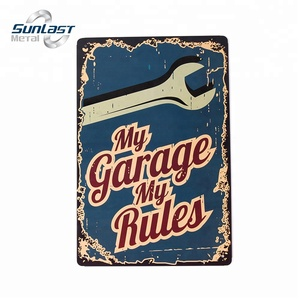 2018 wall hanging garage tin sign vintage metal sign