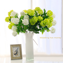 Factory wholesale silk flowers artificial plastic china artificial flowers with four heads hydrangea for wedding decoration ho