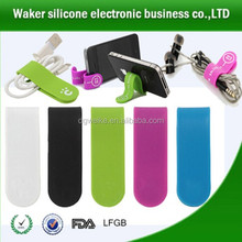 Magnetic earphone cord organizer/clip organizer/multi-function magnetic phone stand with wire band,cell phone money clip