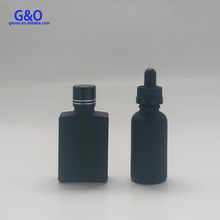 30ml square glass bottle ejuice liquid european glass bottles glass perfume bottles with alumite screw cap