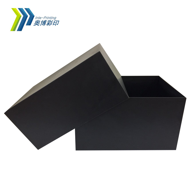 Hot Style Large Size Matte Black Coated Paper Geschenkbox mit Deckel