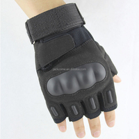 US Army PU Leather Tactical Gloves Men's Half-Finger Paintball Combat Military Gloves Sports Fighting Outdoor Fingerless Gloves