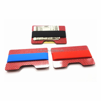 New Metal Multi Colour Mini Carbon Fiber Men ID Credit Card Holder Business Card Case Rfid Wallet