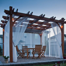 high quality luxury outdoor garden wood pergola