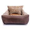 Leopard Teddy pet nest dog kennel supplies small dog Pomeranian dog bed sofa cat litter