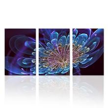 Modern Wall Painting Blue Abstract 3D Flora Picture Home Decorative Art Picture Printed On Canvas Prints
