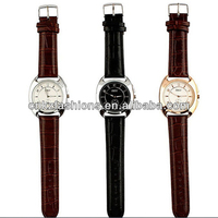 roma watch face leather wrist watches men