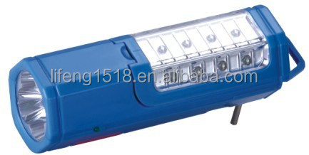 popular in South-East Asia ABS plastic outdoor hand crank rechargeable shake flashlight LF-1165