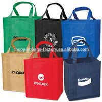 Promotion custom printed recycle non woven shopping bag