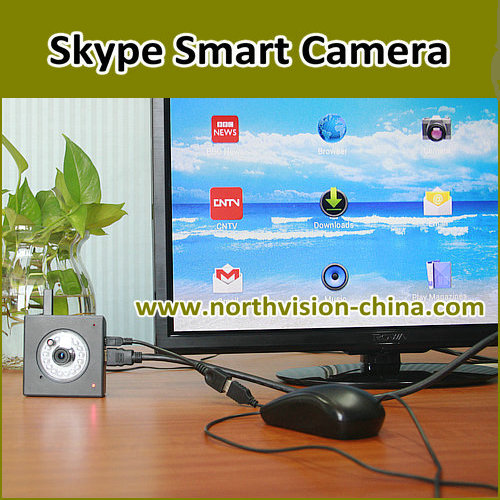 intelligent android box with 720P skype camera
