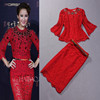 /product-gs/2014-spring-summer-fashion-flare-3-4-sleeve-beading-blouse-knee-length-skirt-lace-red-green-twinset-dresses-1609426697.html